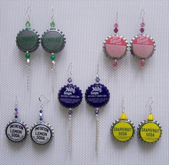 DIY Bottlecap Earrings