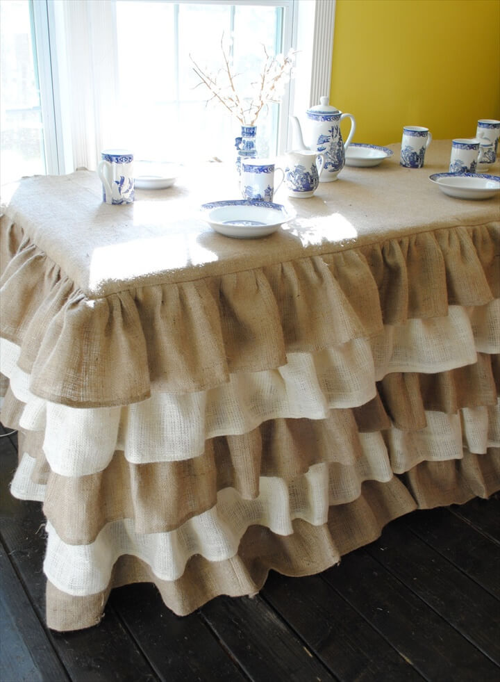 A beautiful tablecloth, perfect for party tables, weddings, birthday parties, or to cover any table in a home and make it a beautiful.