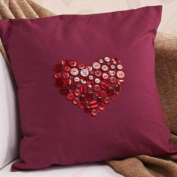 button art pillow design