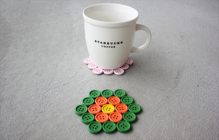 DIY Button Coasters