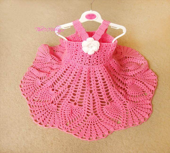 Ripping Crochet Baby Outfits : Crochet Baby Dress For Beginner s