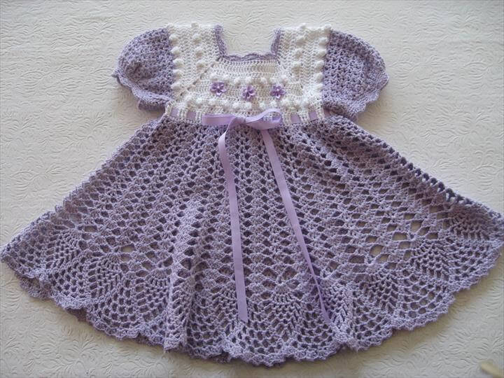 Crochet Baby Winter Dress Pattern : 26 Gorgeous Crochet Baby Dress For Babies DIY to Make