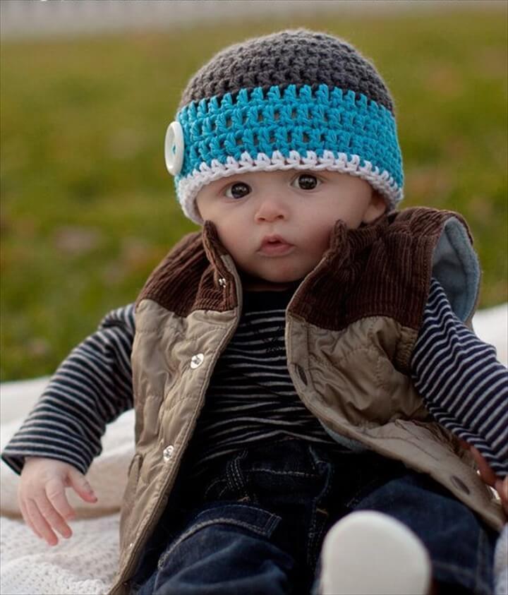 crochet baby hat, crochet kids hat