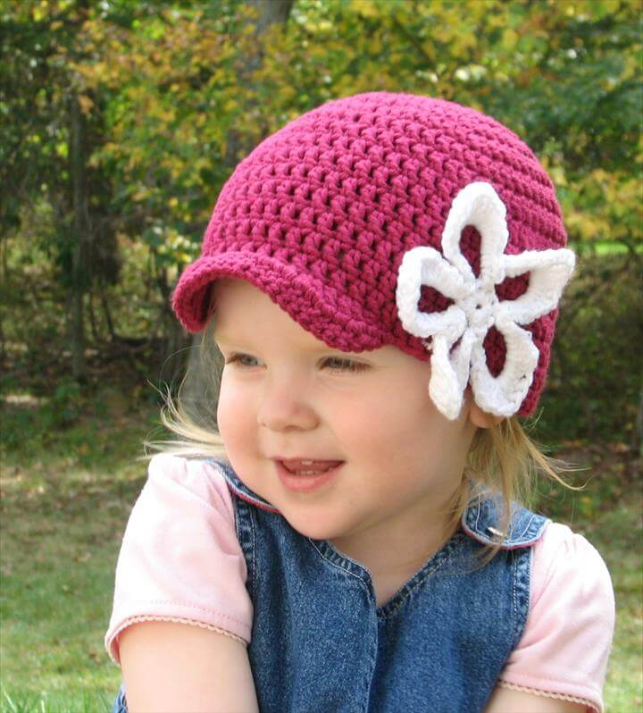 Brimmed Flower Hat
