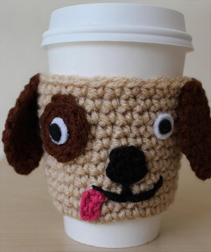 Marvelous Cool Crochet Coffee Cozy Ideas