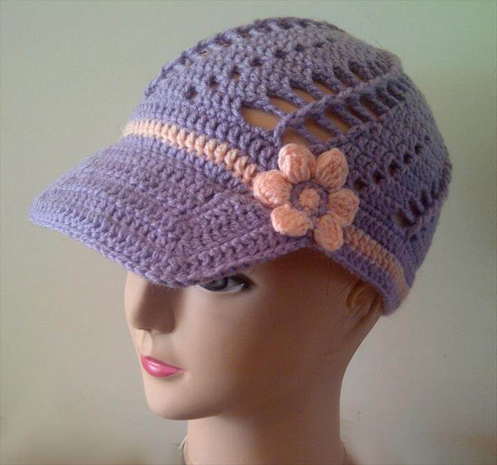 Free Crochet Flower Patterns For Hats - Flowers Healthy