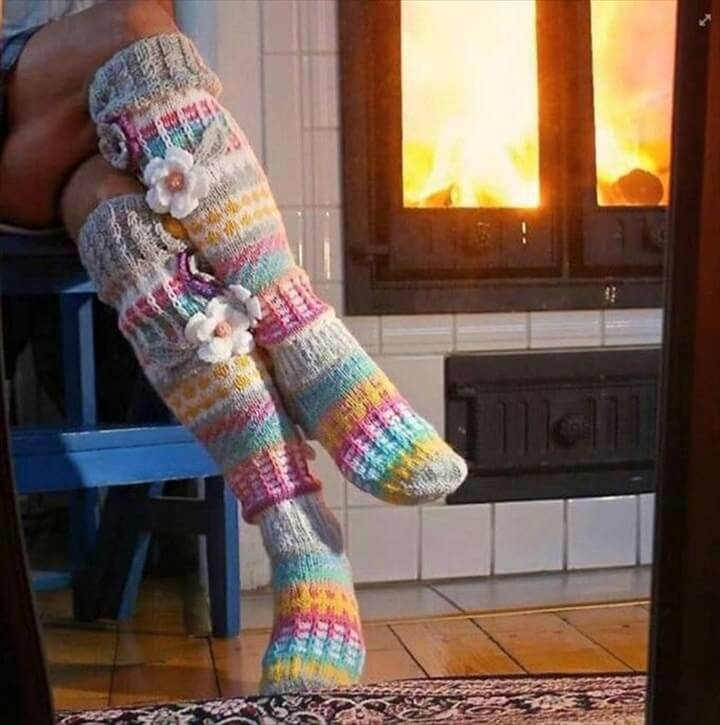 Free Knitting Patterns Leg Warmer Socks : 20 DIY Crochet Leg Warmer Ideas For Girls DIY to Make