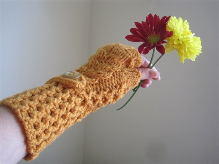 Crochet Gloves Mittens Wrist Warmers Fingerless