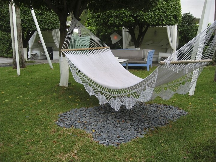 This one has extra fancy edging along with the crochet hammock.