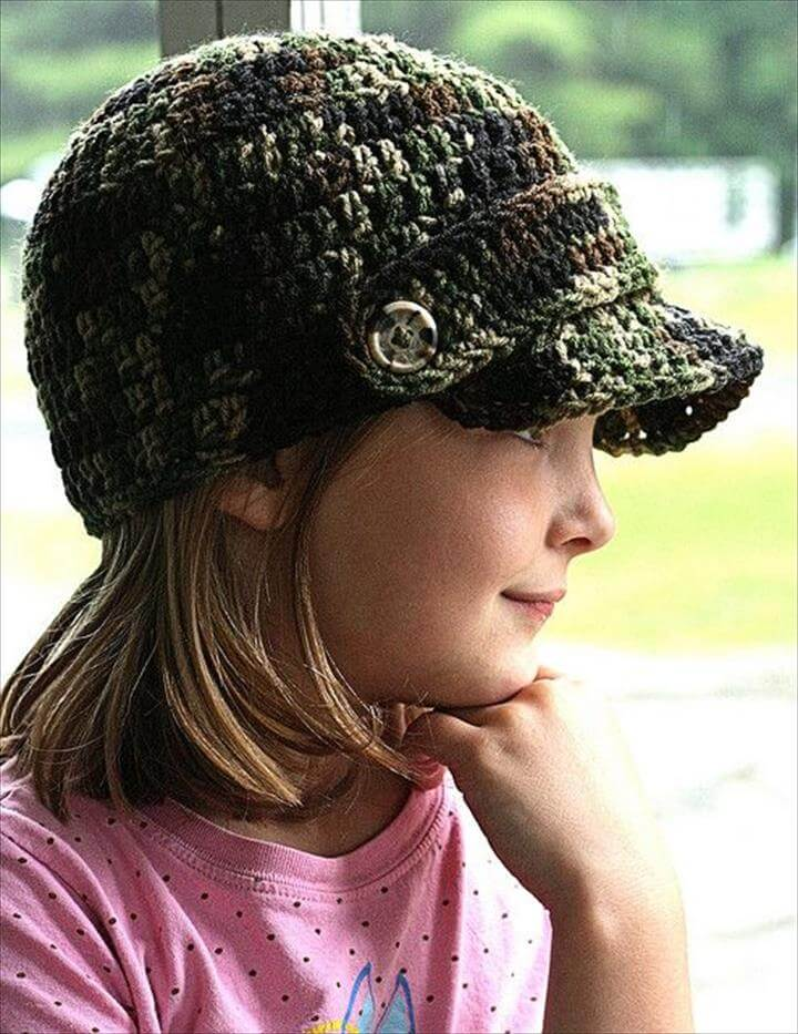 26 Diy Crochet Brimmed Beanie Hats Diy To Make