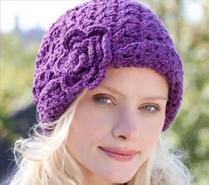 Shell Stick Crochet Hat