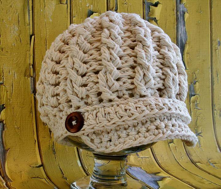 Cabled Newsboy Hat Pattern