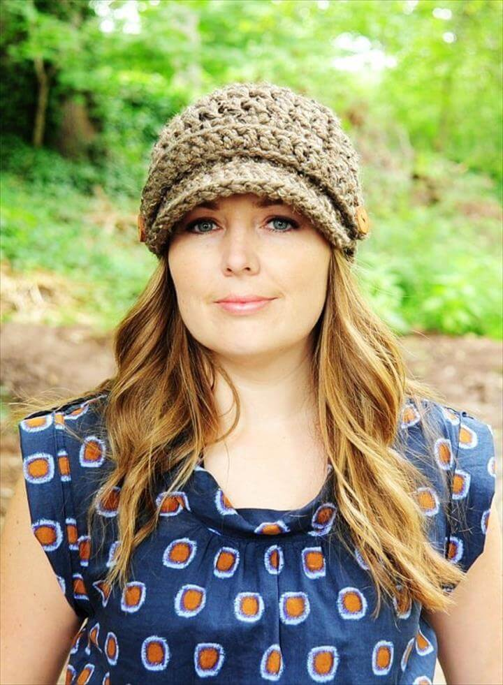 Best Looks of crochet beanie with brim