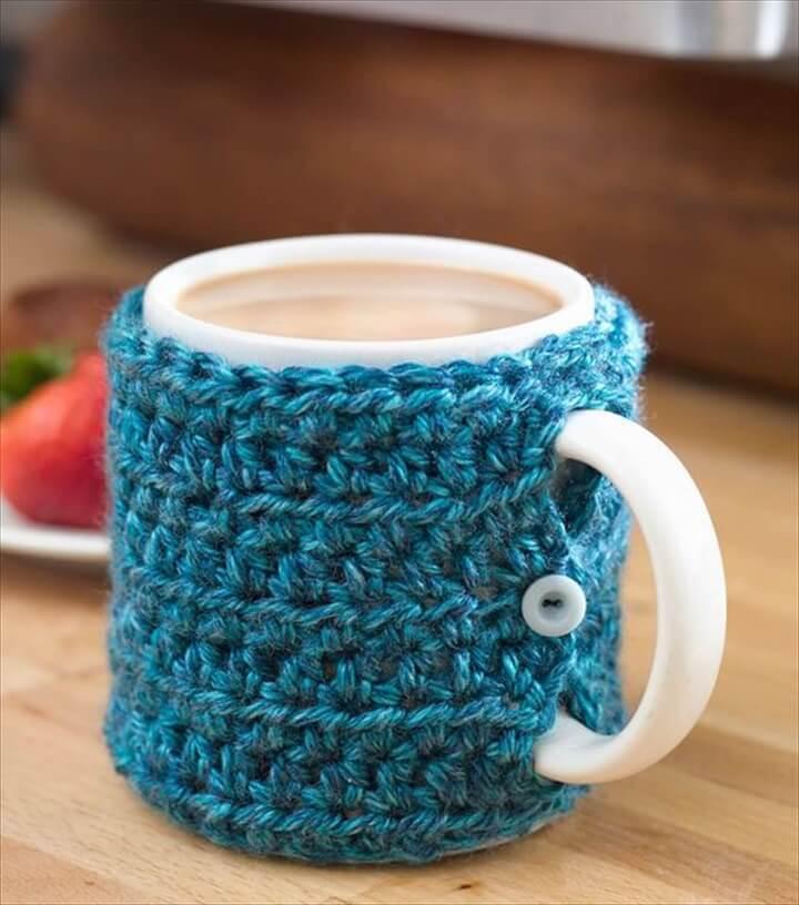 DIY One Stitch Mug Cozy Tutorial