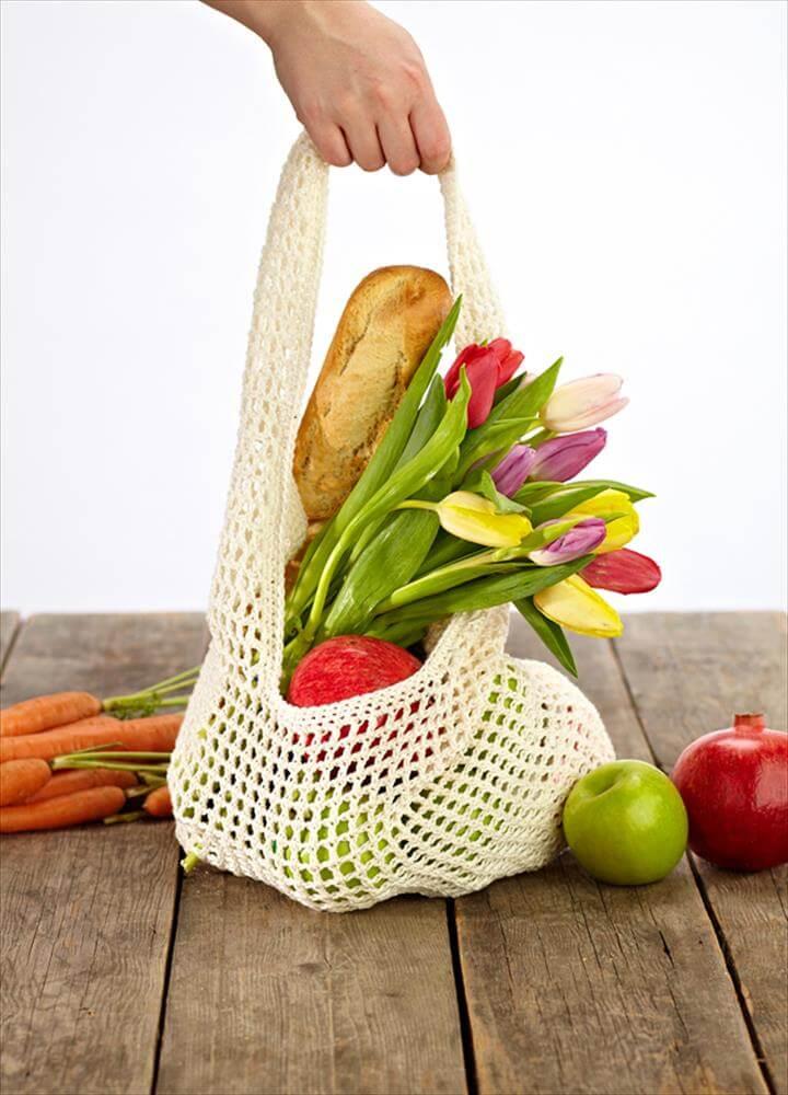 crochet vegetables bags