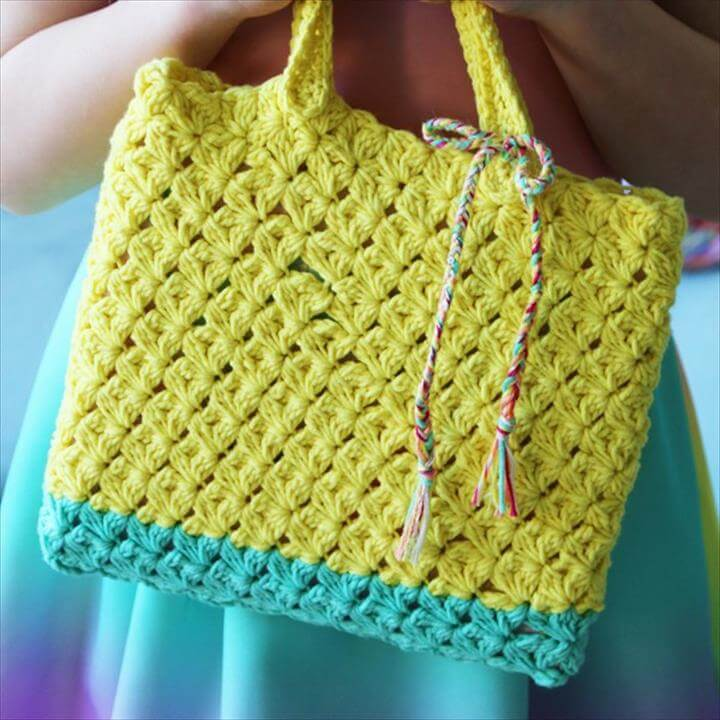 Crochet Patern Cabotine Little Tote Bag