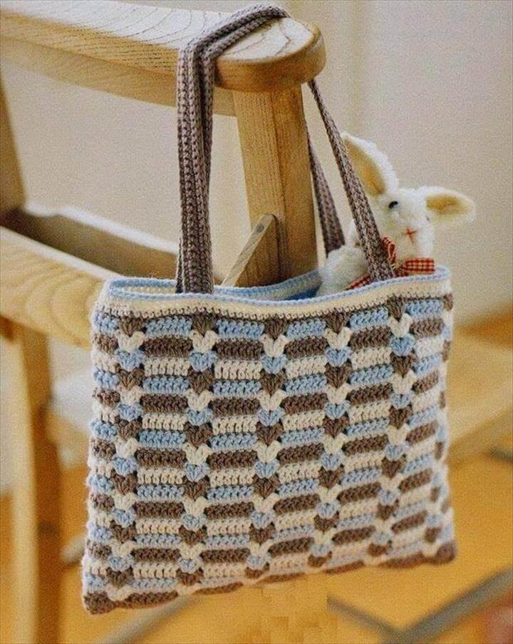 50 diy crochet purse tote bag patterns