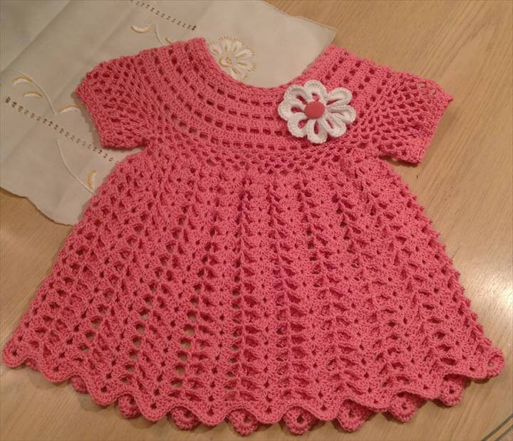 crochet dress with flower