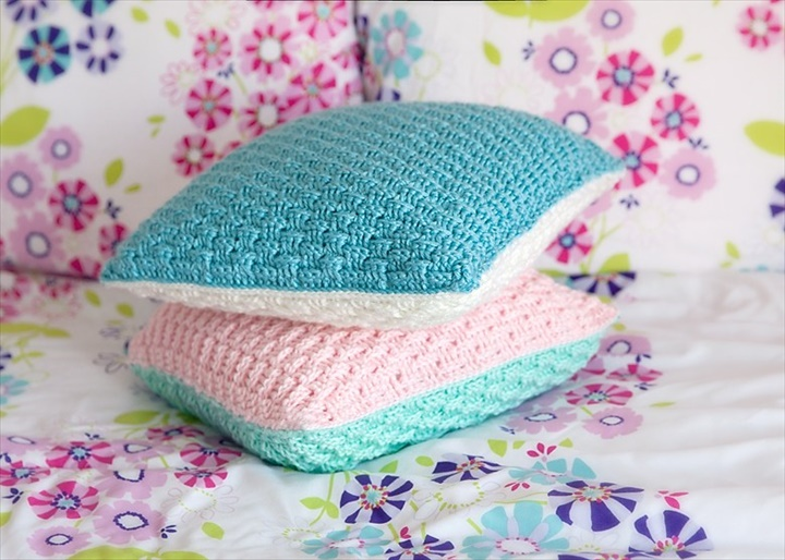 40 Extremely Easy Crochet Patterns DIY To Make Unique How To Crochet A Pillow Cover