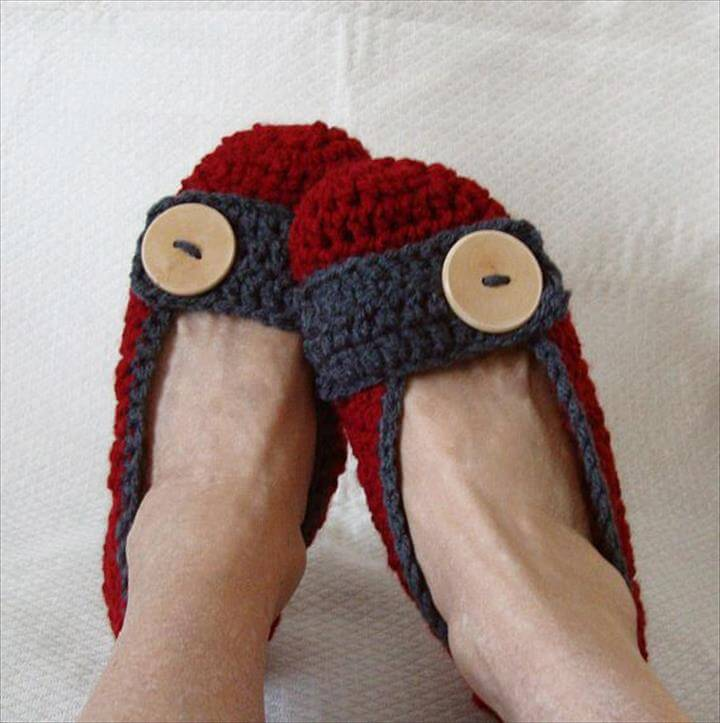 Crochet Slippers Women