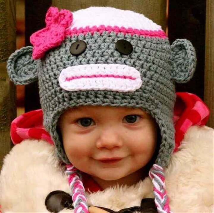 diy crochet hat for kid's