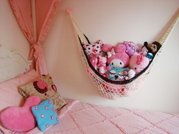 Crochet Stuffed Animal Hammock