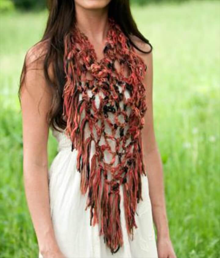 crochet triangle scarf for girls