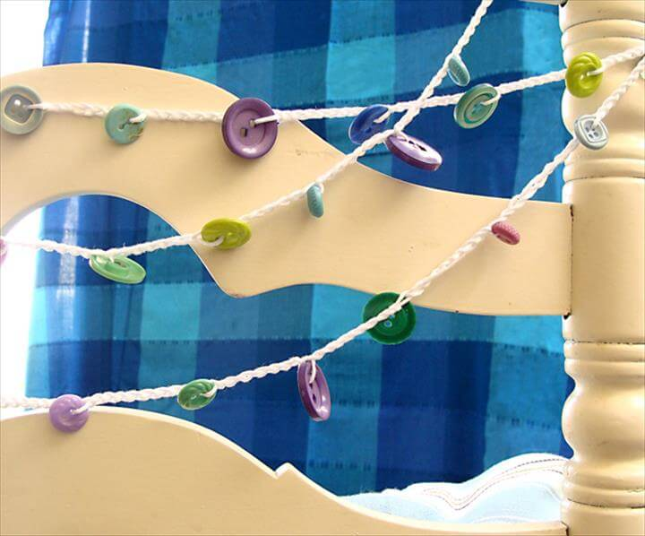 Crocheted button garland