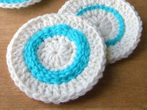 With Crochet,Crocheted Coasters With Top Stitching