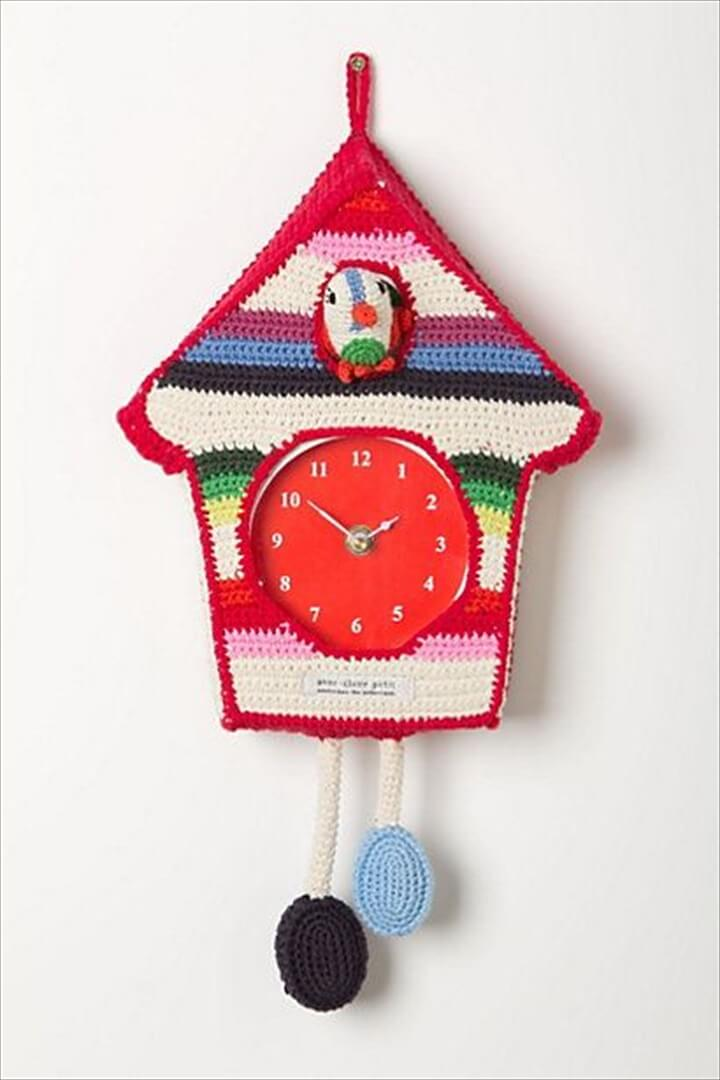 Hand-Crocheted Cuckoo Clock