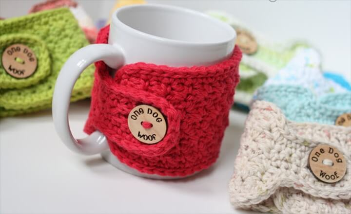31 Diy Easy To Make Crochet Mug Warmer Ideas