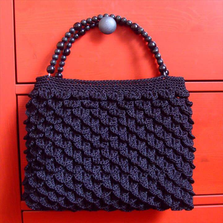 crocodile crochet bag