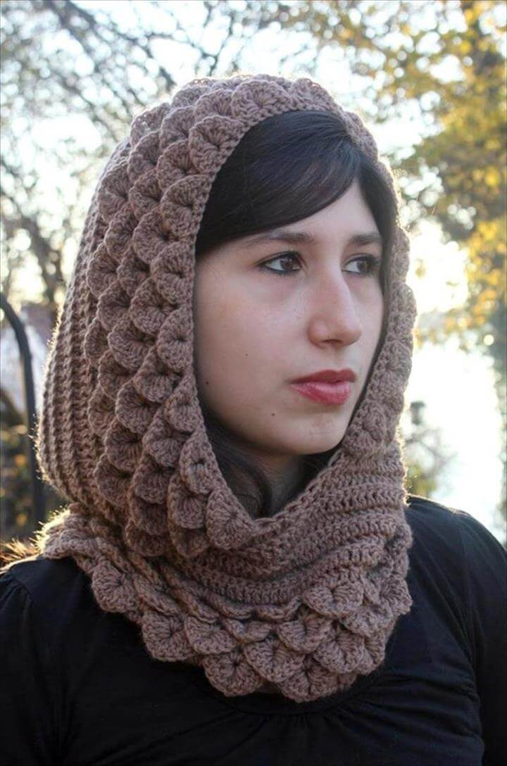 free women crochet hood pattern