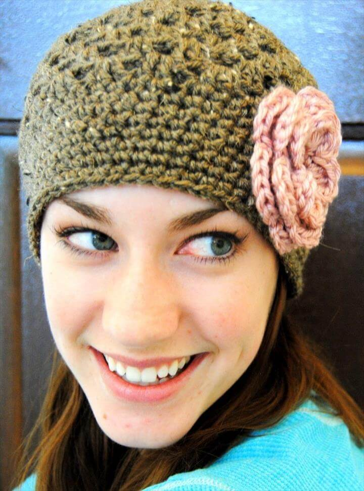 45 Super Diy Crochet Brimmed Beanie Hat Design
