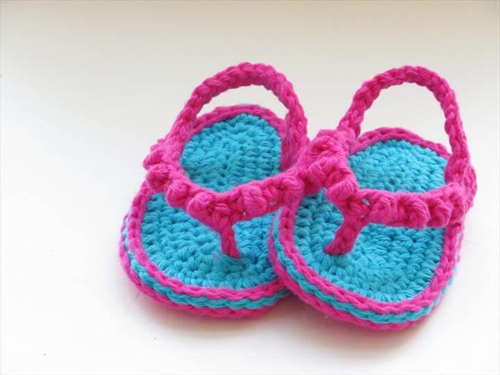 diy crochet babt sandals