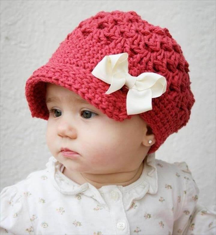 110b3b995c1 26 DIY Crochet Brimmed Beanie Hats