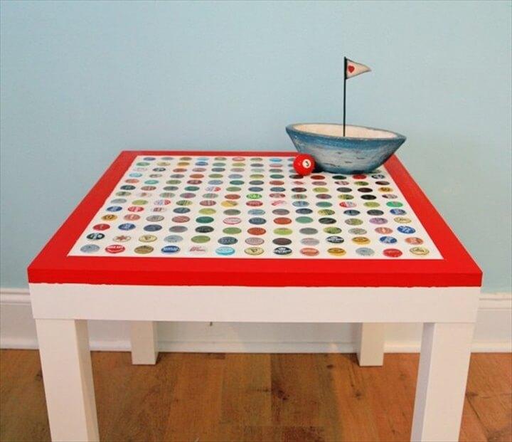 ottle cap table