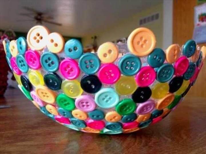easy to make button bowl