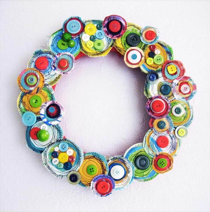 nice button wreath