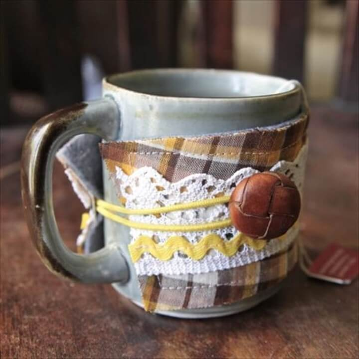 DIY Mug Cozy Knit And Crochet Pattern
