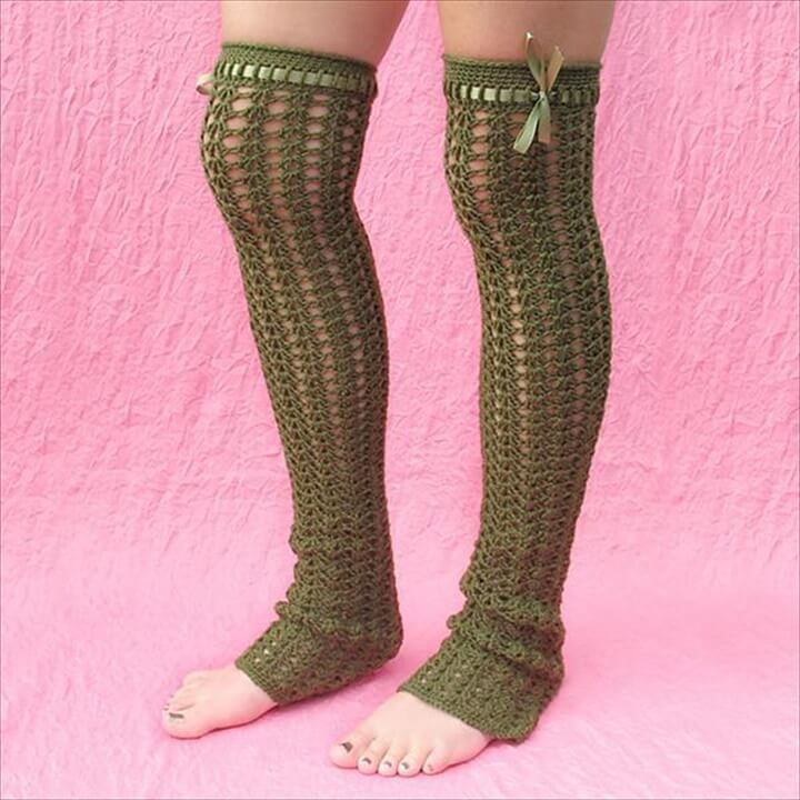 DIY Crochet Leg Warmer Pattern