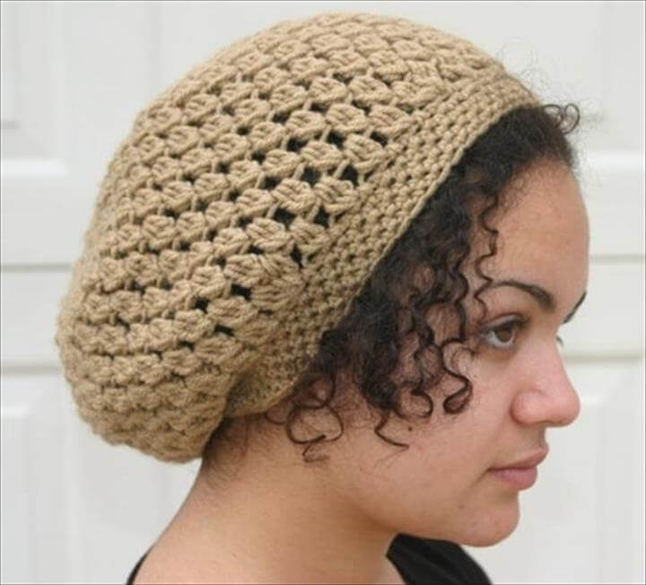 DIY Crochet Slouchy Women Hat Pattern