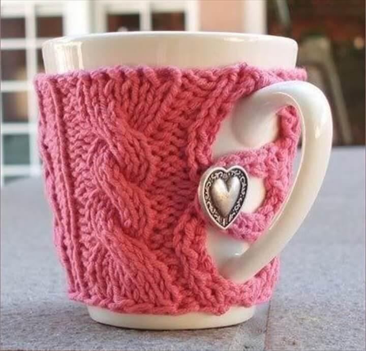 Beautiful Shocking Pink Mug Warmer And Hearty Button