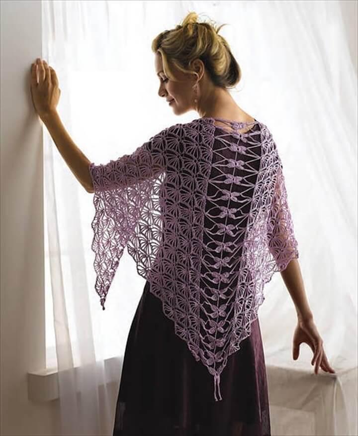 Stunning Dragonfly Crochet Shawl Pattern