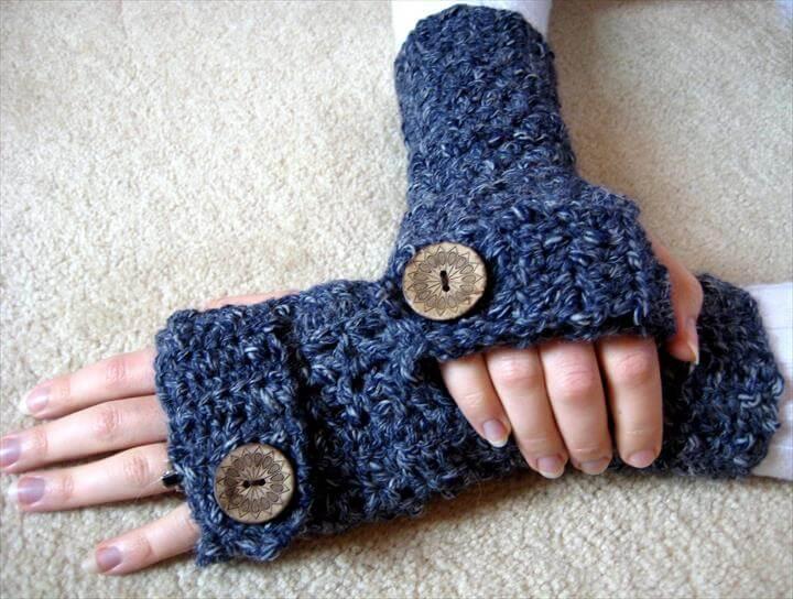Easy fingerless gloves pattern