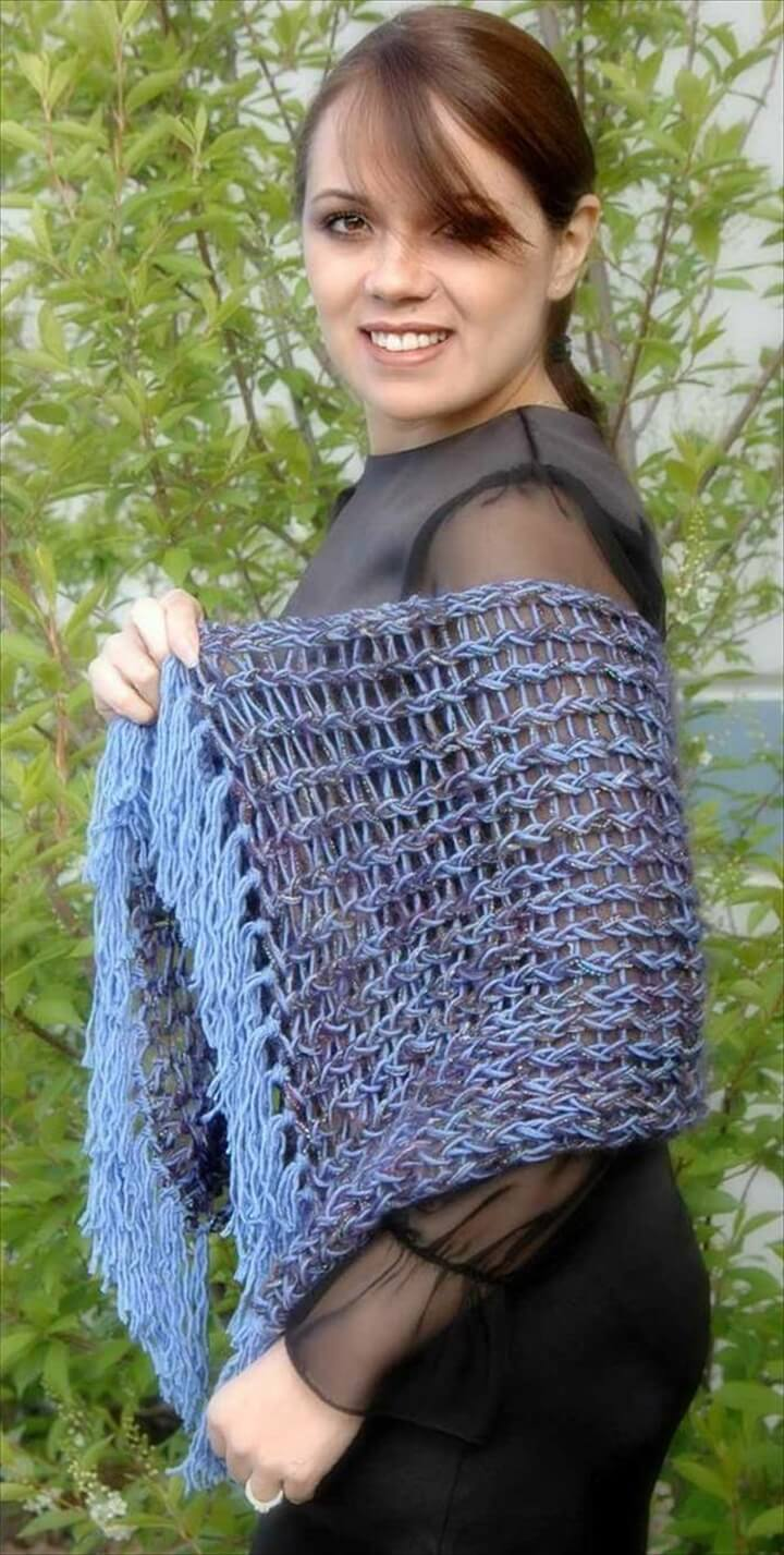 Free Loom Knitting Crochet Shawl Pattern