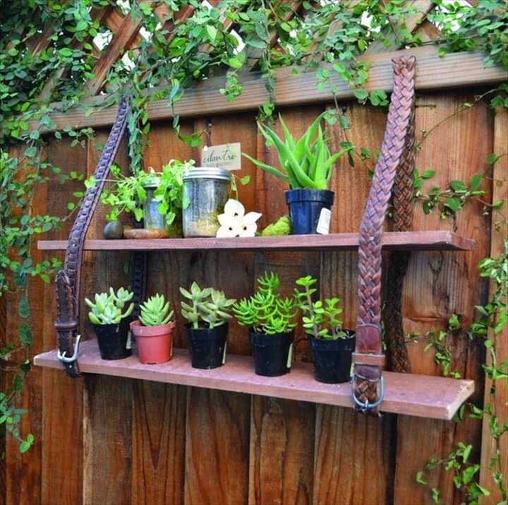 garden junk ideas creative projects shelves reuse leather belt plants fencegarden junk ideas creative projects shelves reuse leather belt plants fence