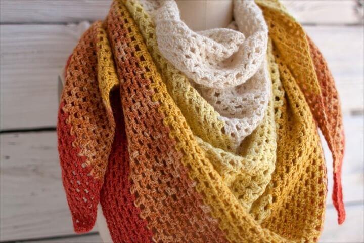 granny crochet shawl