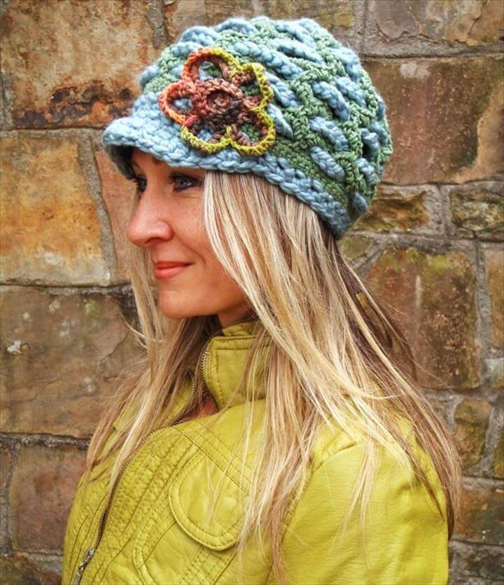 crochet slouchy hat Items