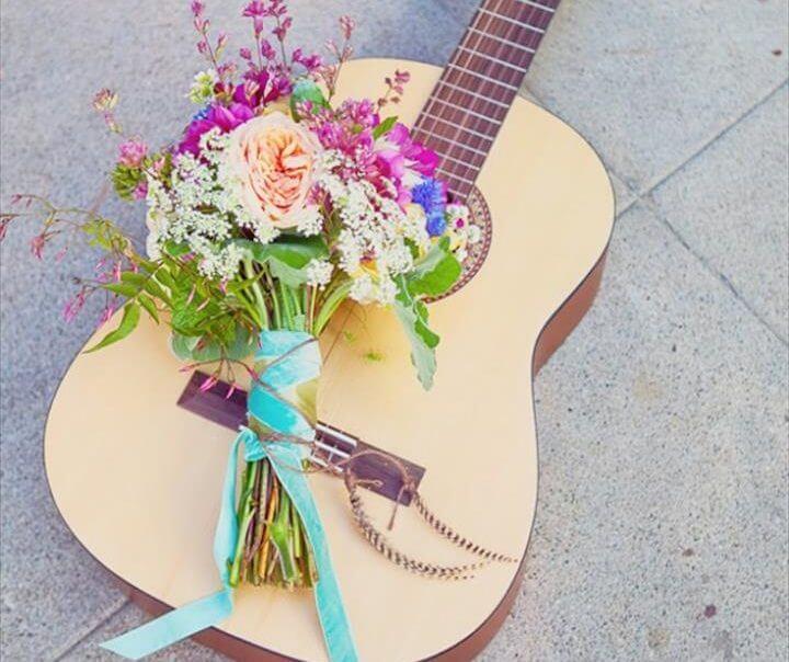 Floral Guitar Decor